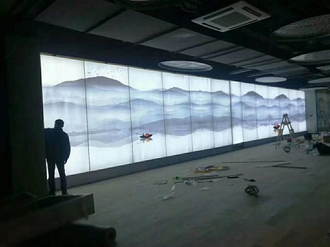 展厅uv软膜施工